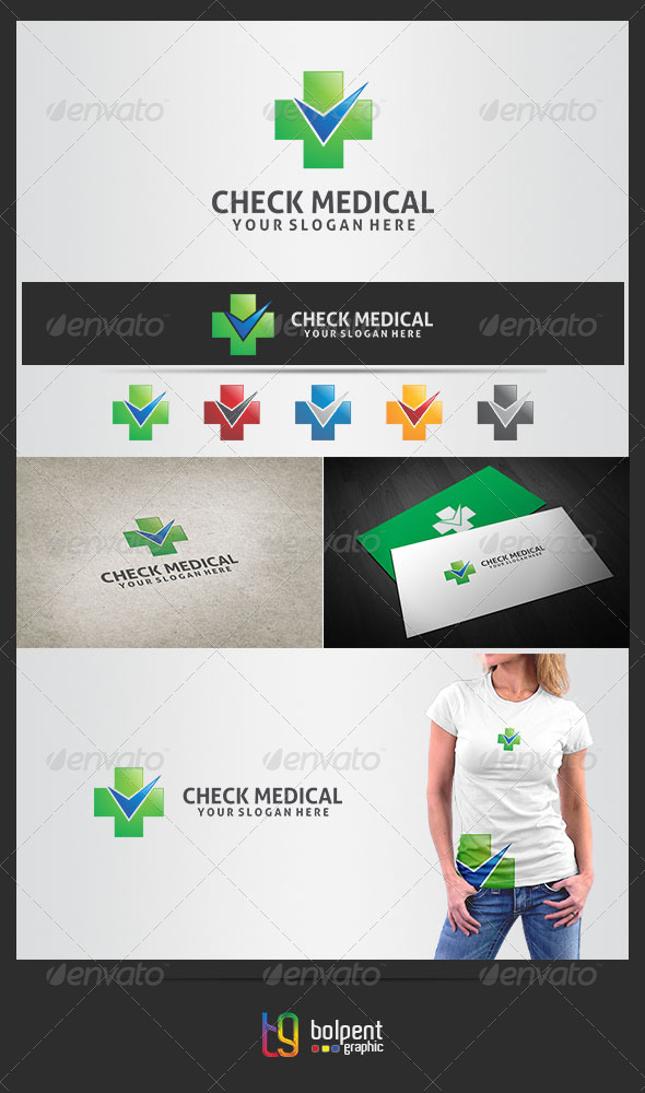 GraphicRiver Check Medical Logo Template 4344351