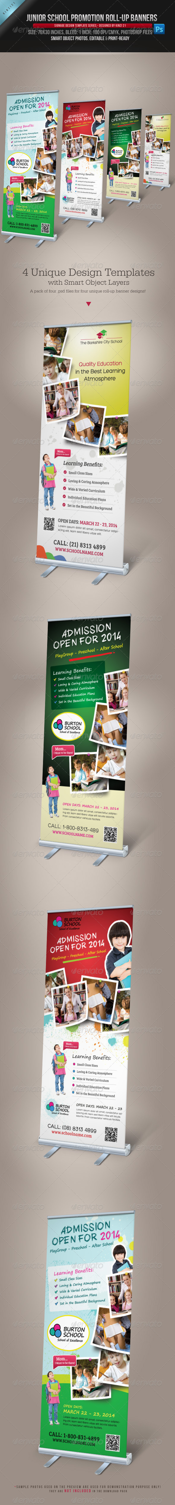 GraphicRiver Junior School Promotion Roll-up Banners 4185740