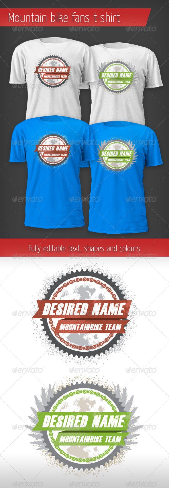 GraphicRiver Mountain Bike Fan T-shirt 4321769