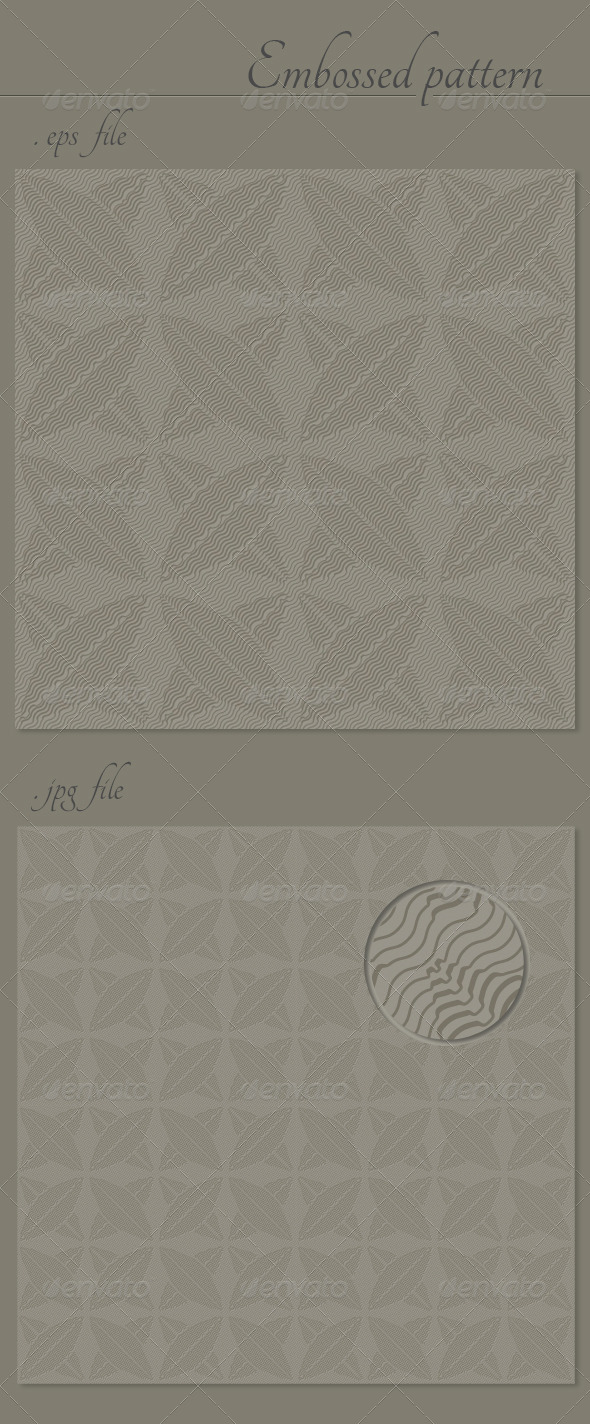 GraphicRiver Abstract Embossed Vector Seamless Pattern Texture 4344369