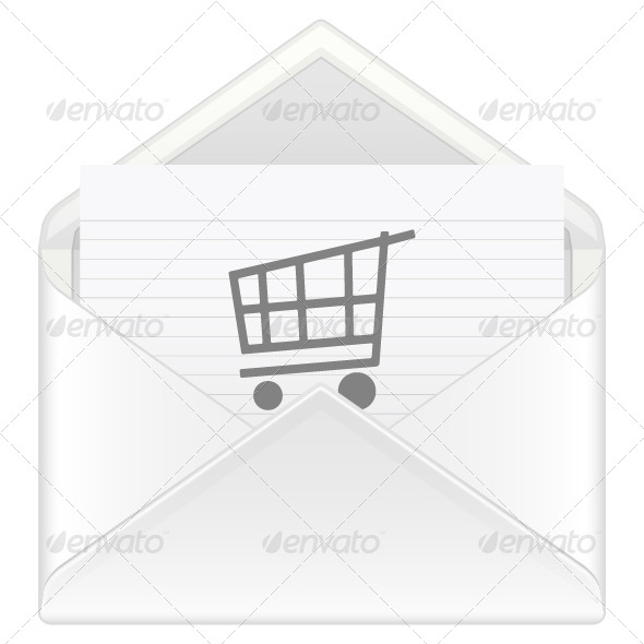 GraphicRiver Envelope Shopping Cart 4344485
