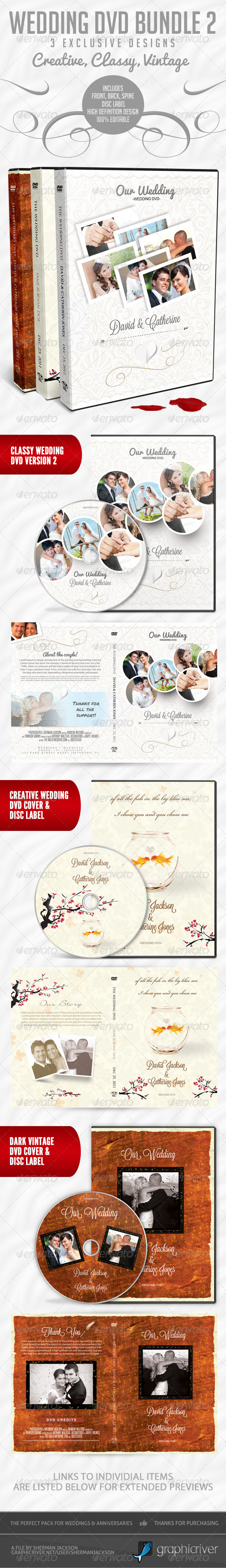 GraphicRiver Wedding DVD Premium Bundle 2 4344583