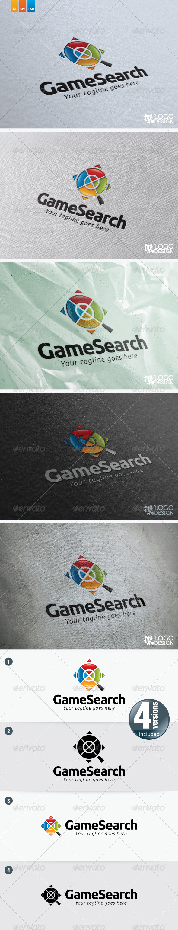Game Search - Symbols Logo Templates