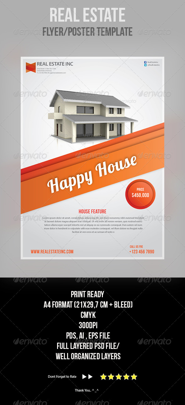 GraphicRiver Real Estate Flyer Template 4345257