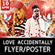Love Accidentally Flyer Template - GraphicRiver Item for Sale
