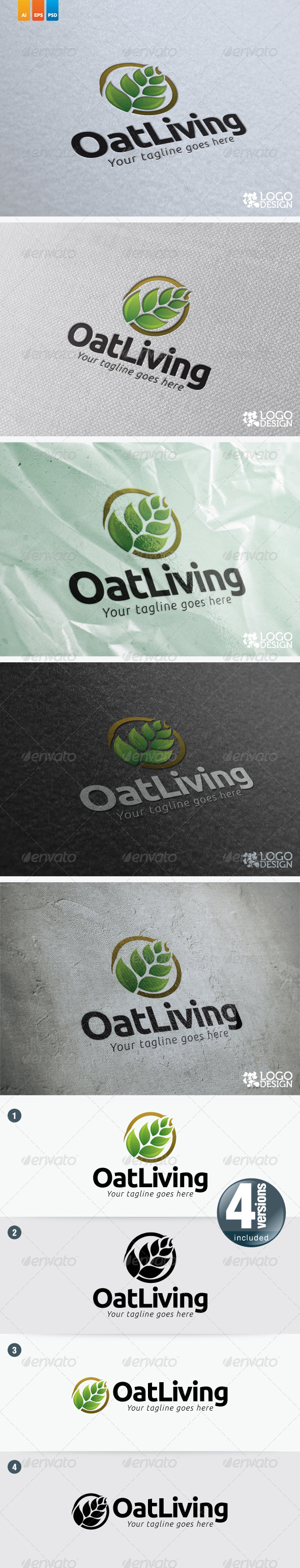 OatLiving - Nature Logo Templates