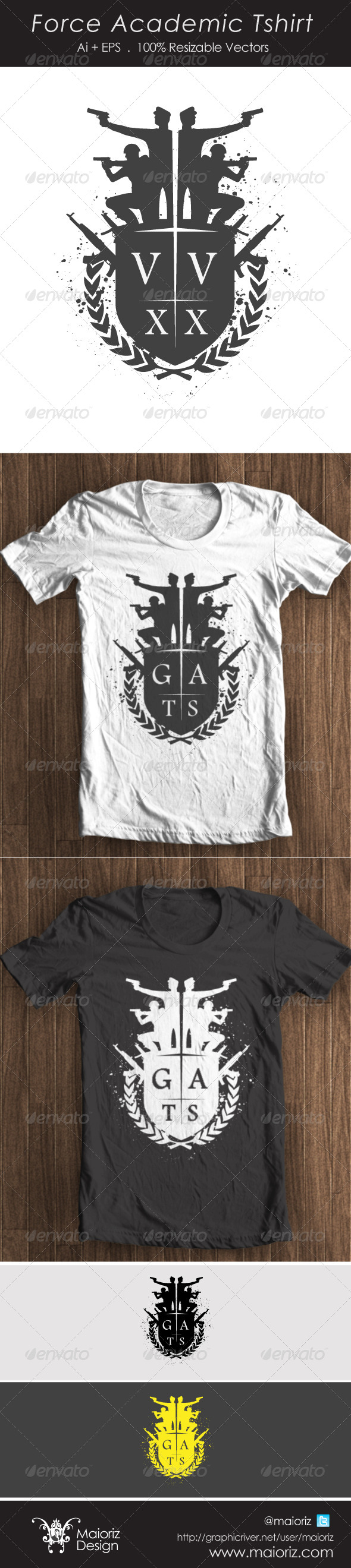 GraphicRiver Acedemic Force Tshirt 4338099
