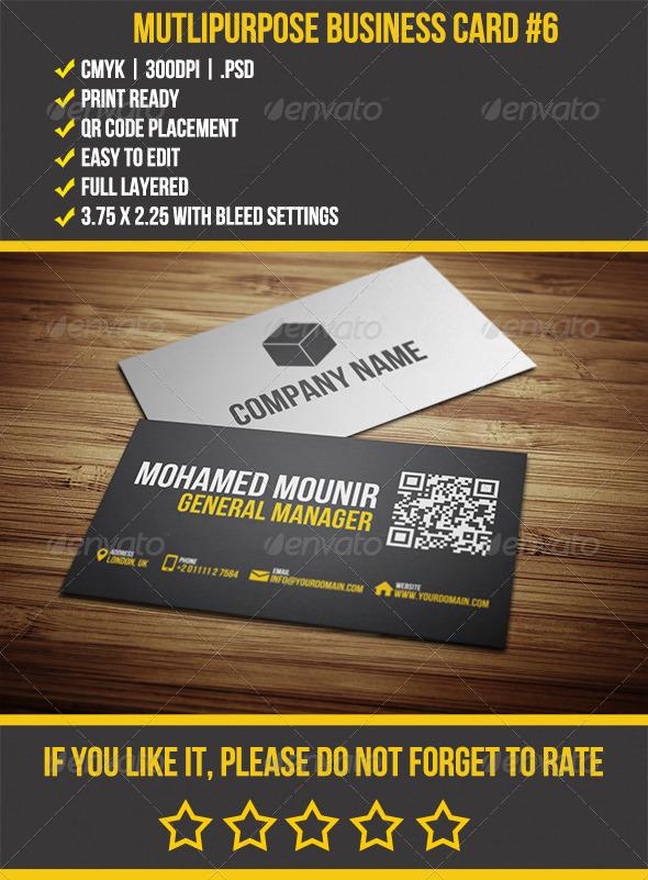 GraphicRiver Multipurpose Business Card 6 4234445