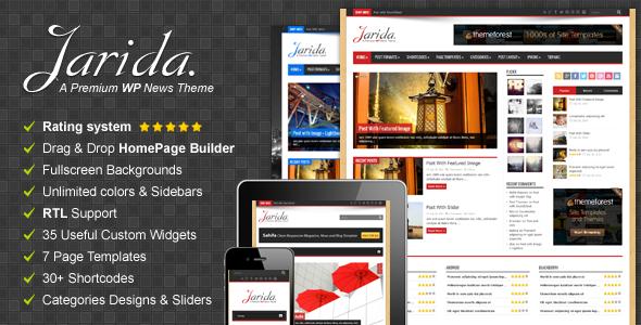 ThemeForest Jarida Responsive WordPress News Magazine Blog 4309191