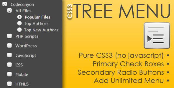 CodeCanyon CSS3 Tree Menu 4343299