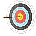 Archery target with arrow - PhotoDune Item for Sale
