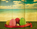 Ester egg with retro grunge background - PhotoDune Item for Sale