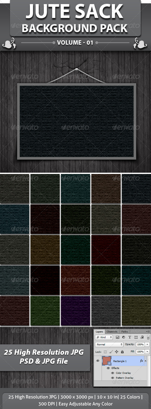 GraphicRiver Jute Sack Background 4346976