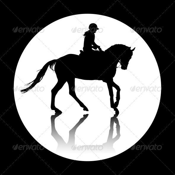 GraphicRiver Background with Horse 4347296