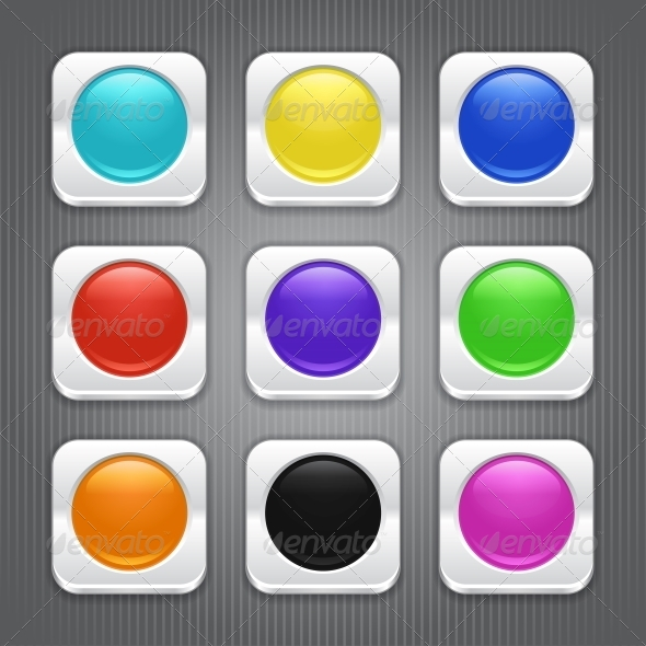 GraphicRiver Set of Color App Icons 4347832
