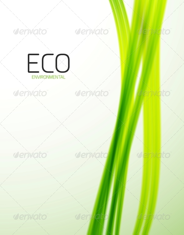 GraphicRiver Eco Modern Green Lines Template 4347965