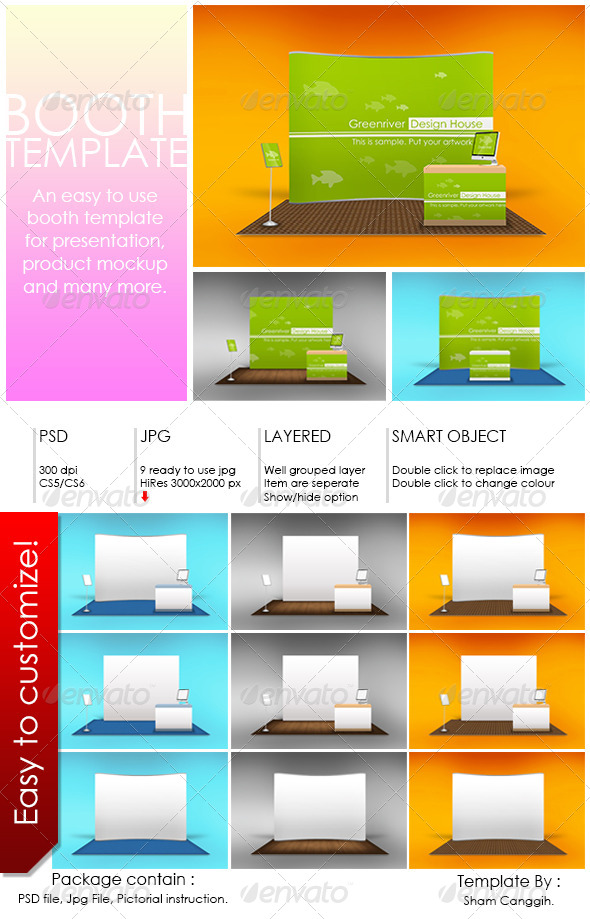 Booth Template Part 6 - Print Product Mock-Ups