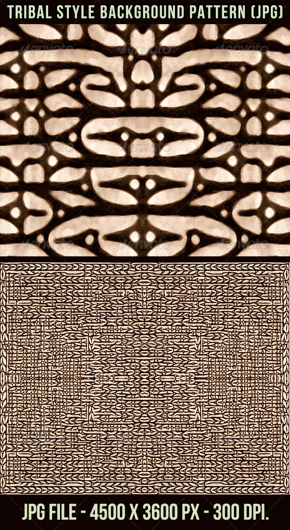Tribal Style Background Pattern - Patterns Backgrounds
