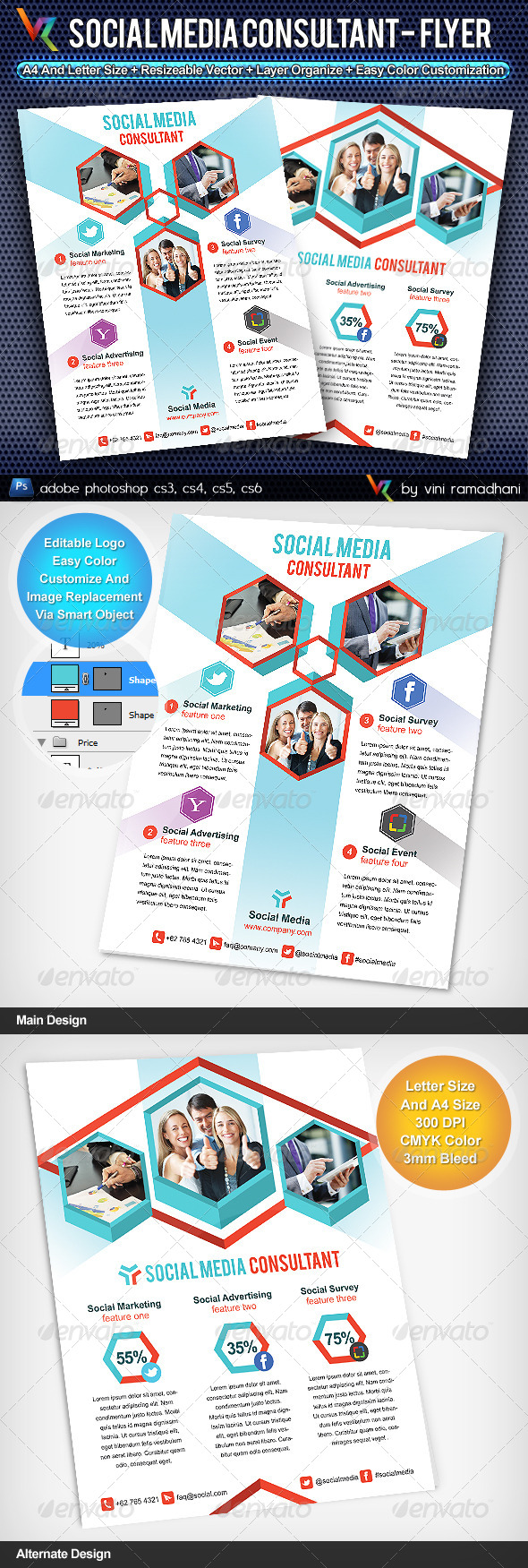 GraphicRiver Social Media Consultant Flyer Or Advertising 4348732