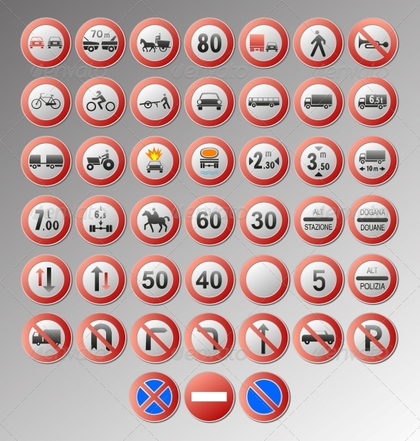 GraphicRiver Forbidding Traffic Signs 4348774