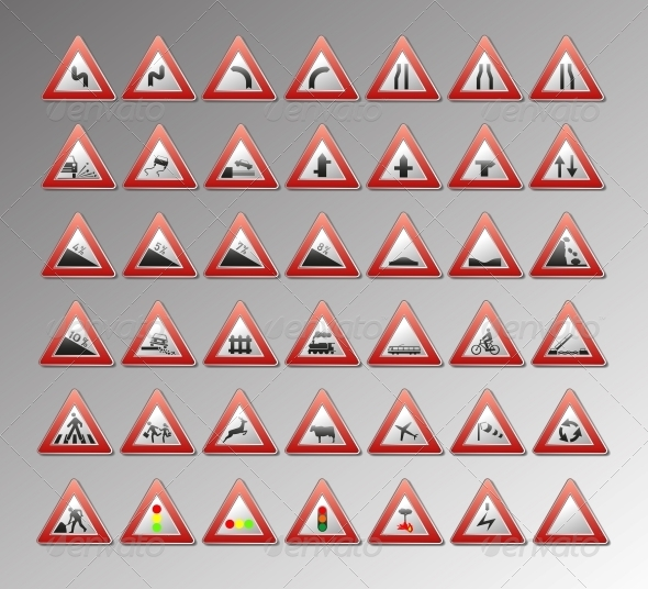 GraphicRiver Warning Signs 4348782