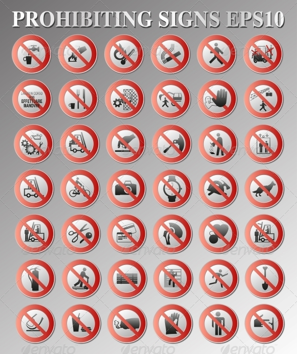 GraphicRiver Prohibiting Signs 4348806