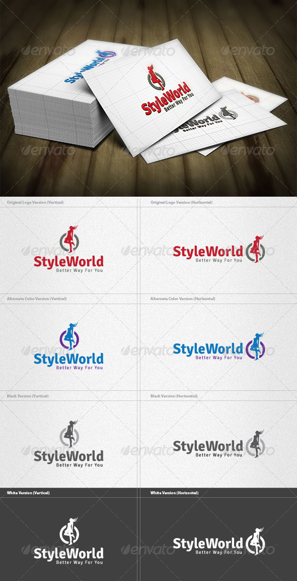 GraphicRiver Style World Logo 4348812