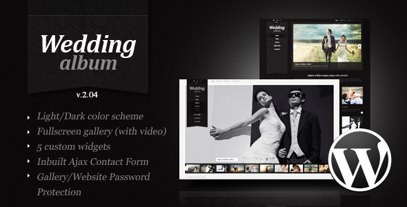 Wedding Album Premium Wordpress Theme - Photography Creative