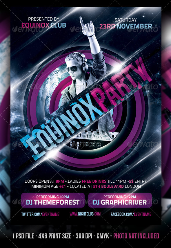 Equinox Party Flyer - Clubs & Parties Events