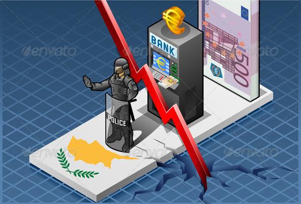 GraphicRiver Isometric Cyprus Crisis 4349593