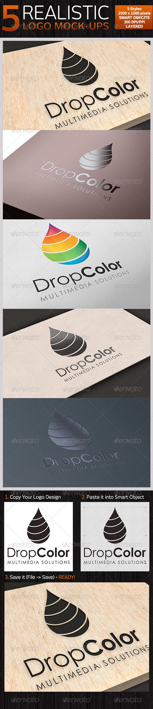GraphicRiver 5 Realistic Logo Mock-ups Set 1 4349649