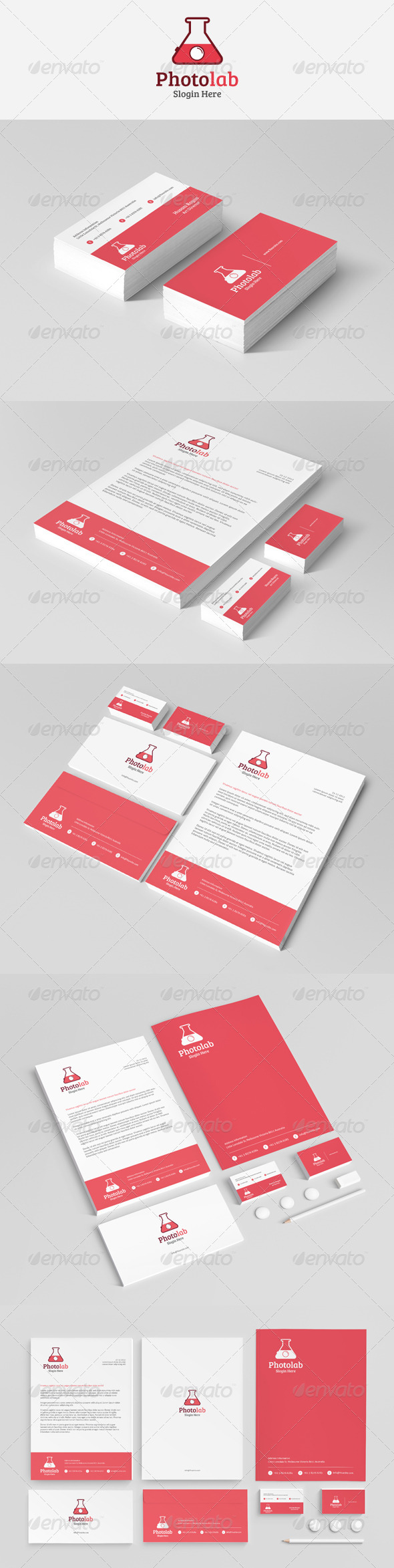 GraphicRiver Photolab Stationery 4349792