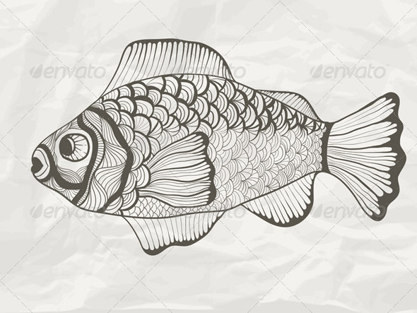 GraphicRiver Vector Funky Fish 4350023