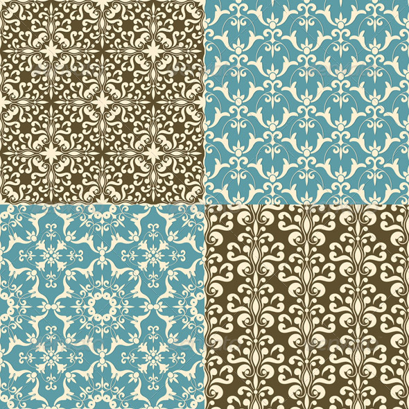 GraphicRiver Seamless Floral Patterns 4350079