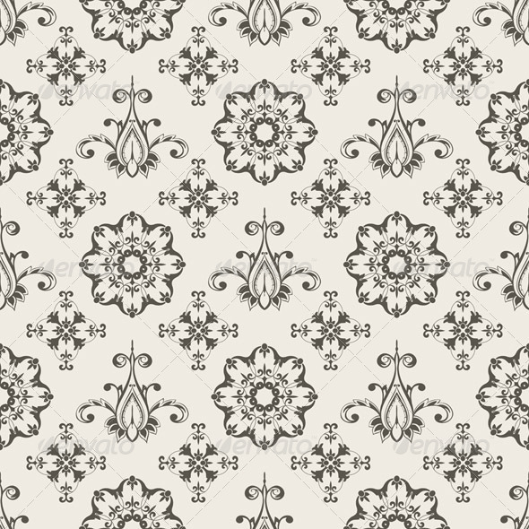GraphicRiver Seamless Floral Wallpaper Pattern 4350102