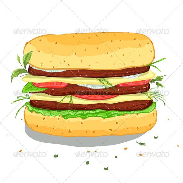 GraphicRiver Hamburger Drawing 4350224 Created: