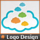 Creative Pixel Clouds Application Logo Template - GraphicRiver Item for Sale