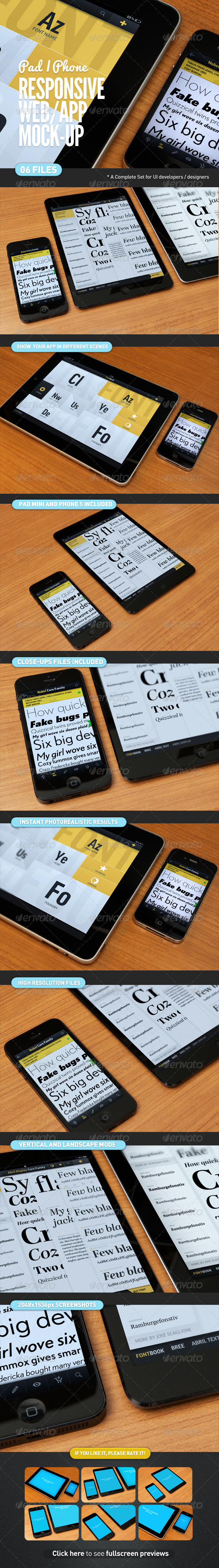 GraphicRiver Responsive Screen Web App Mock-Up 4350435