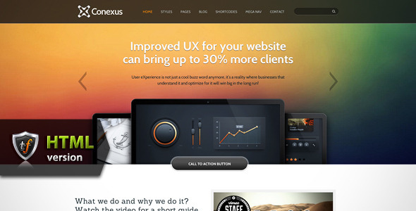 ThemeForest Conexus Agency HTML Theme 4350786