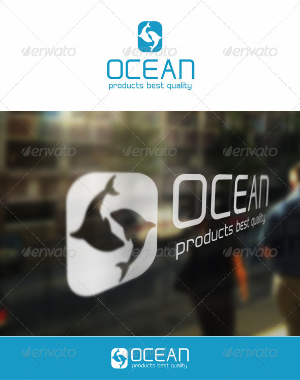 Ocean Products - Letter O Logo - Animals Logo Templates