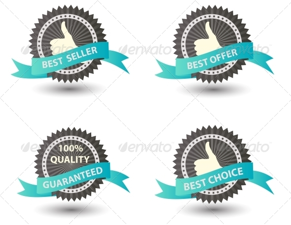 GraphicRiver Best Seller Labels 4351301