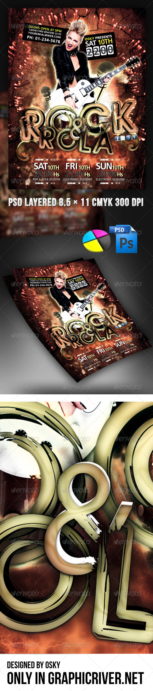 GraphicRiver Name Rock And Rola 4351317