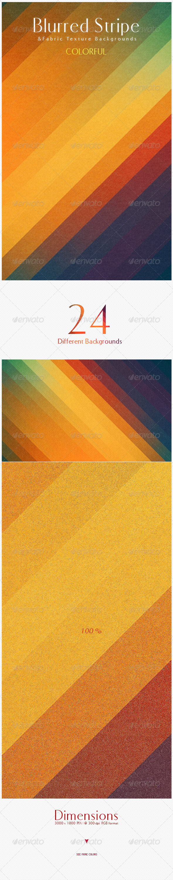 GraphicRiver Blurred Stripe & Fabric Texture Backgrounds 4351351