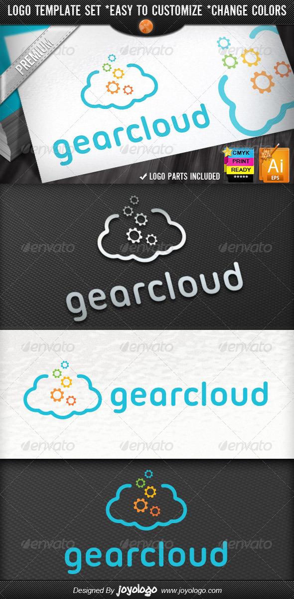GraphicRiver Internet Applications Pixel Gear Cloud Logo 4351352