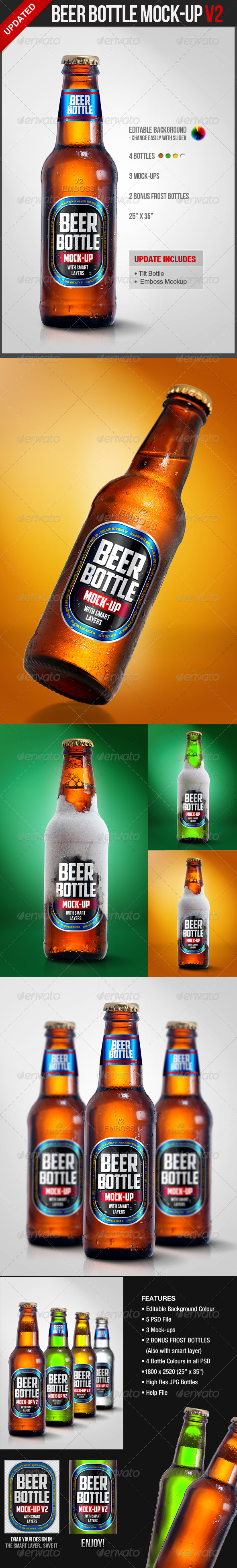 Beer Bottle Mock-Up V2 - Food and Drink Packaging
