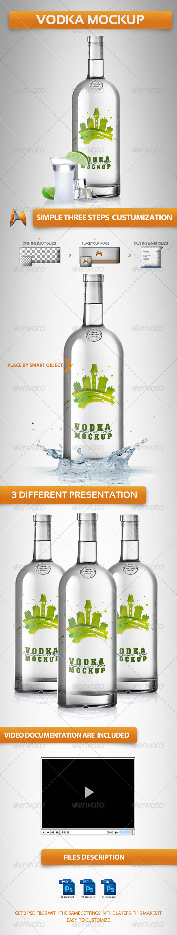 GraphicRiver Vodka Mockup 4286667