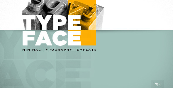 ThemeForest TYPEFACE Minimal Typography HTML5 template 4351579