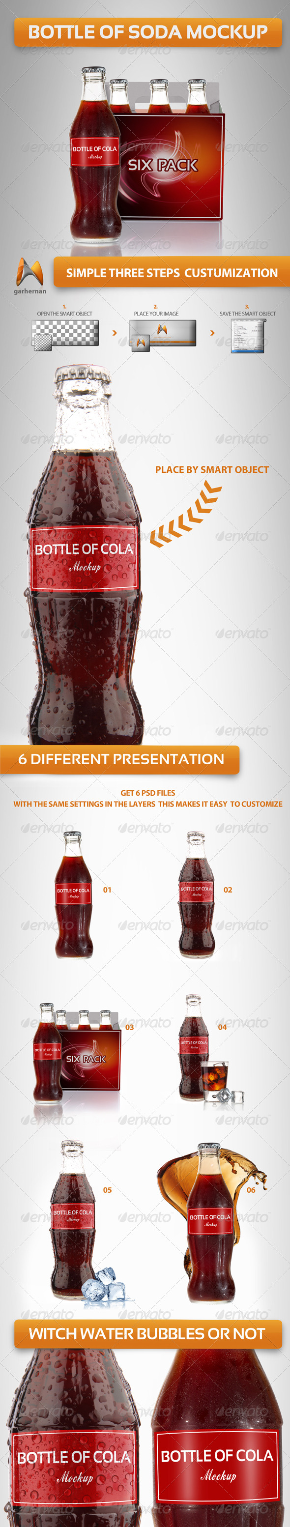 GraphicRiver Bottle Cola Mockup 4351828