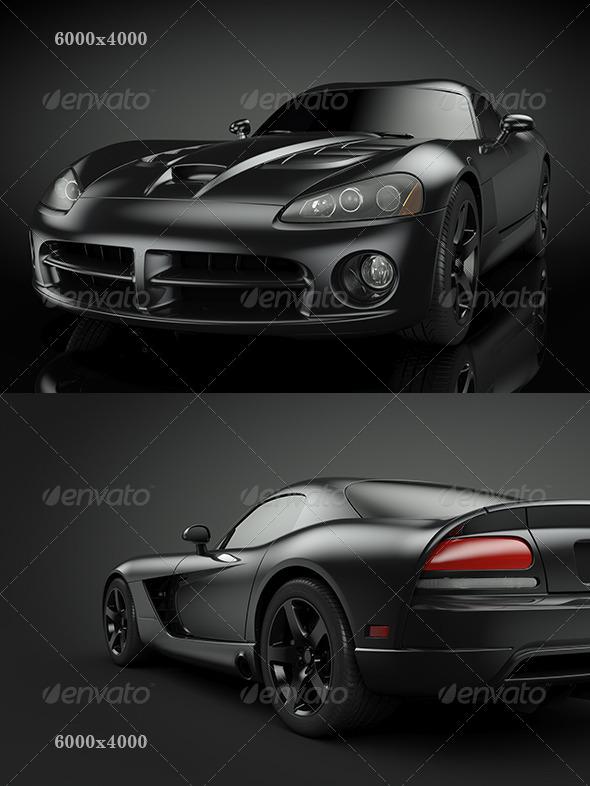 GraphicRiver Black Sport Car 4351854