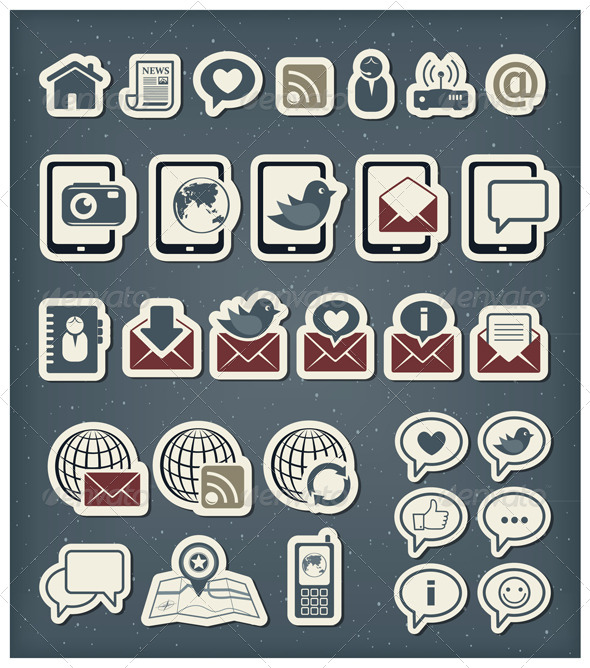 GraphicRiver Internet Communication Icons 4351943